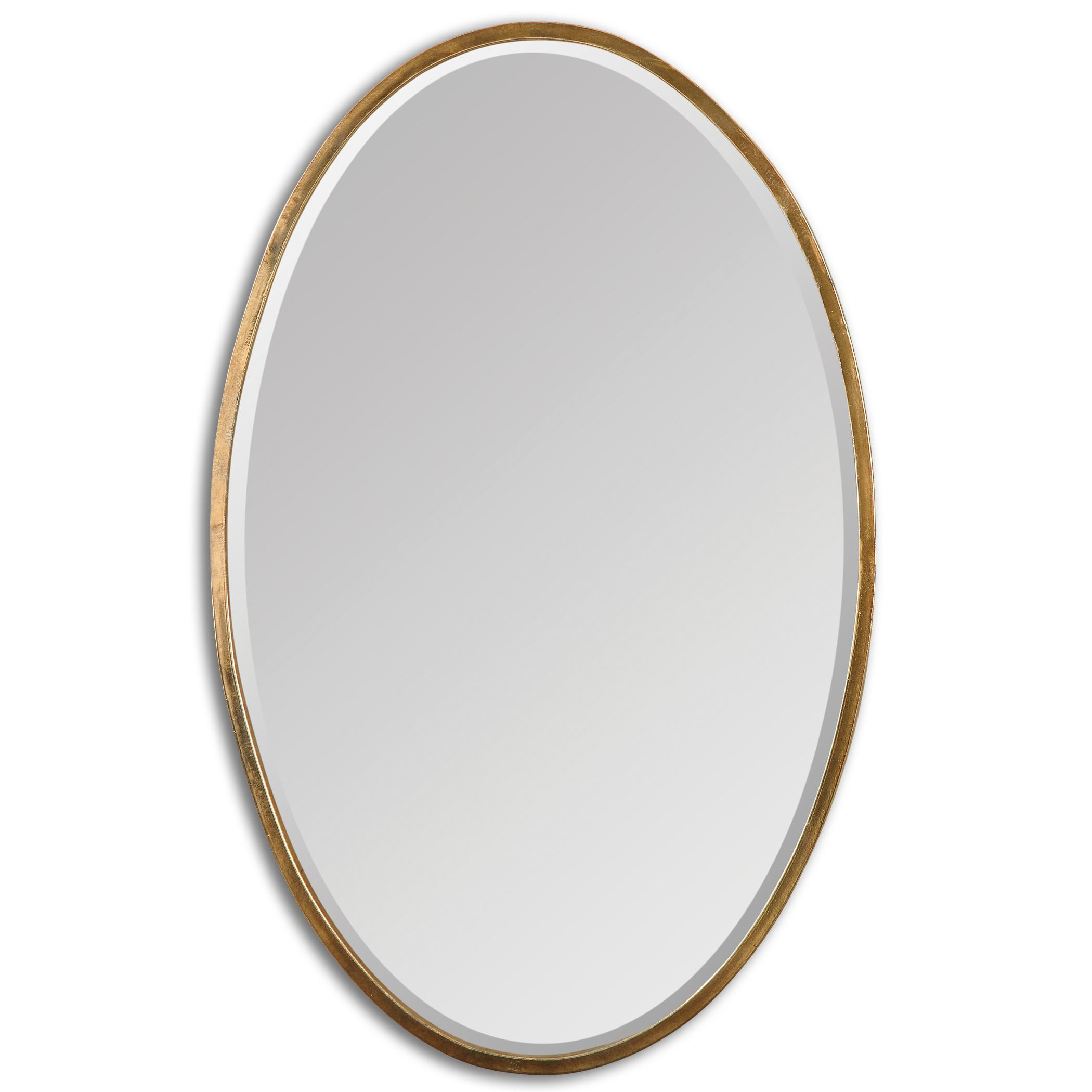 Uttermost Mirrors Herleva Gold Oval Mirror - Item Number: 12894