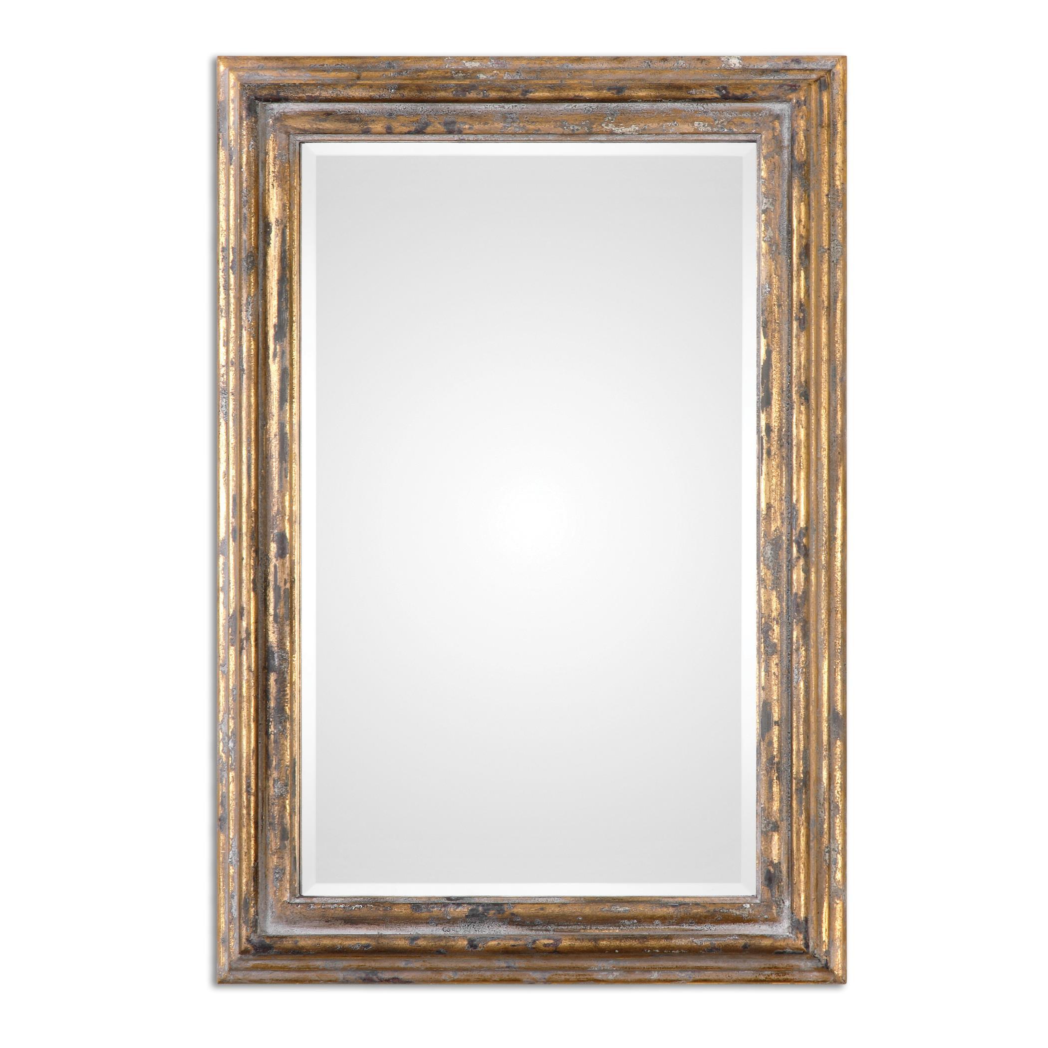 Uttermost Mirrors Davagna Gold Leaf Mirror - Item Number: 12896