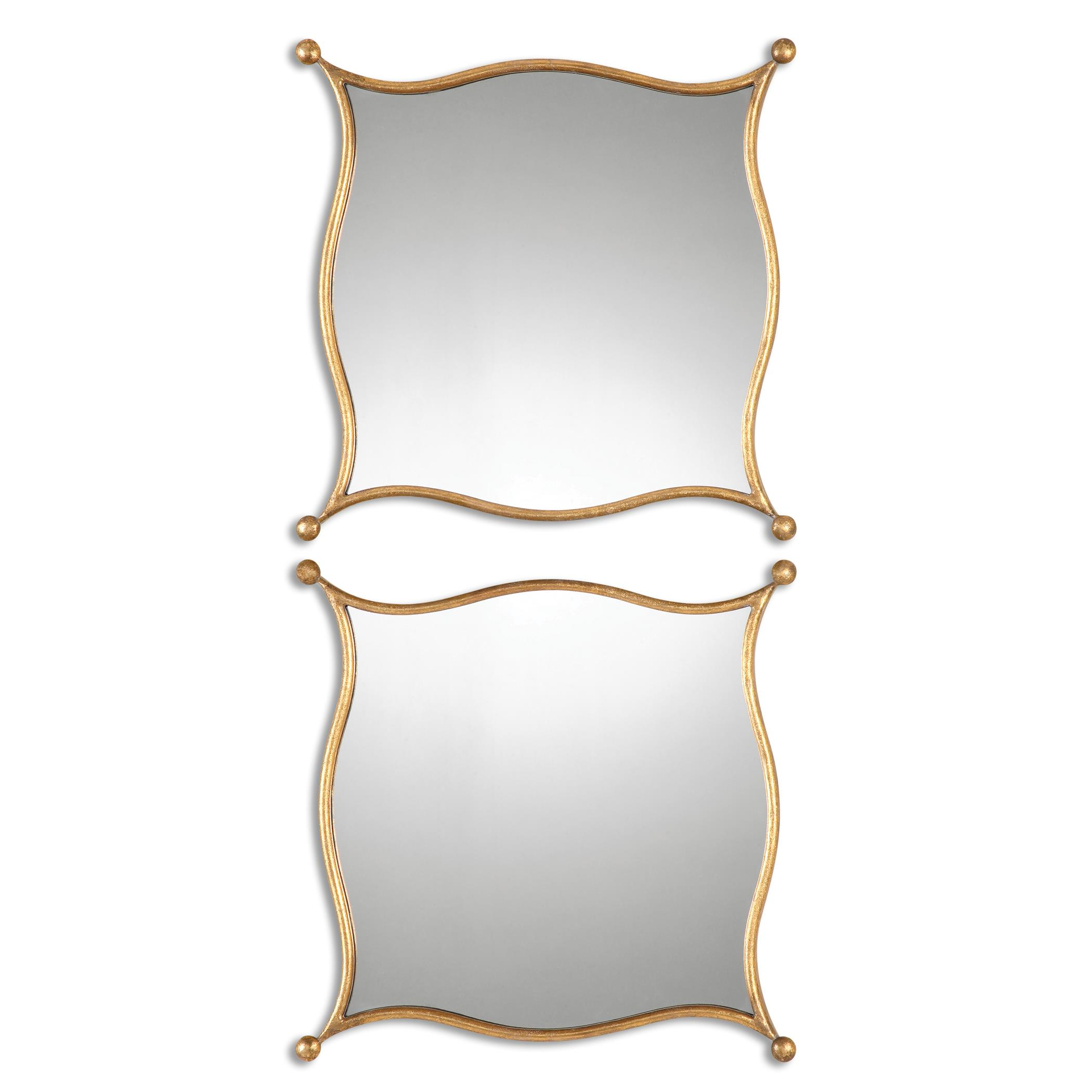 Uttermost Mirrors Sibley Gold Mirrors, S/2 - Item Number: 12902