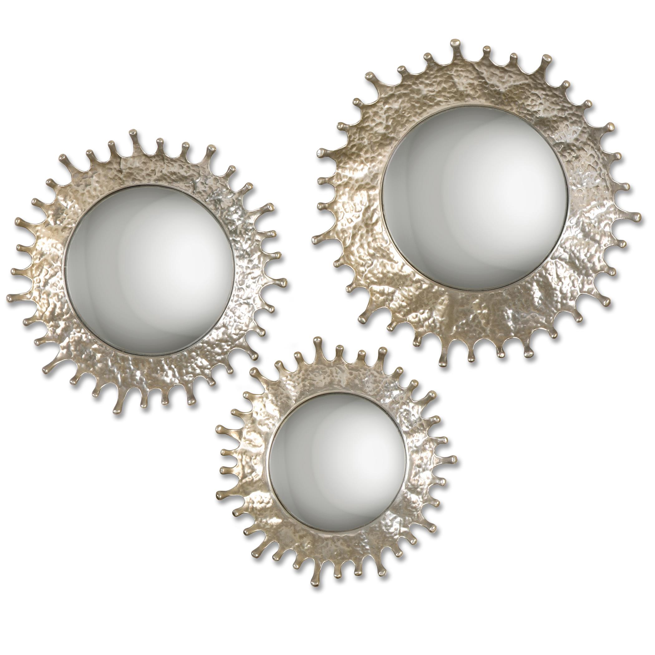 Uttermost Mirrors Rain Splash Round Mirrors, S/3 - Item Number: 12903