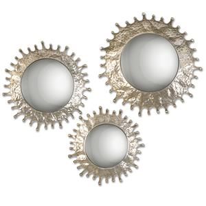 Uttermost Mirrors Rain Splash Round Mirrors, S/3