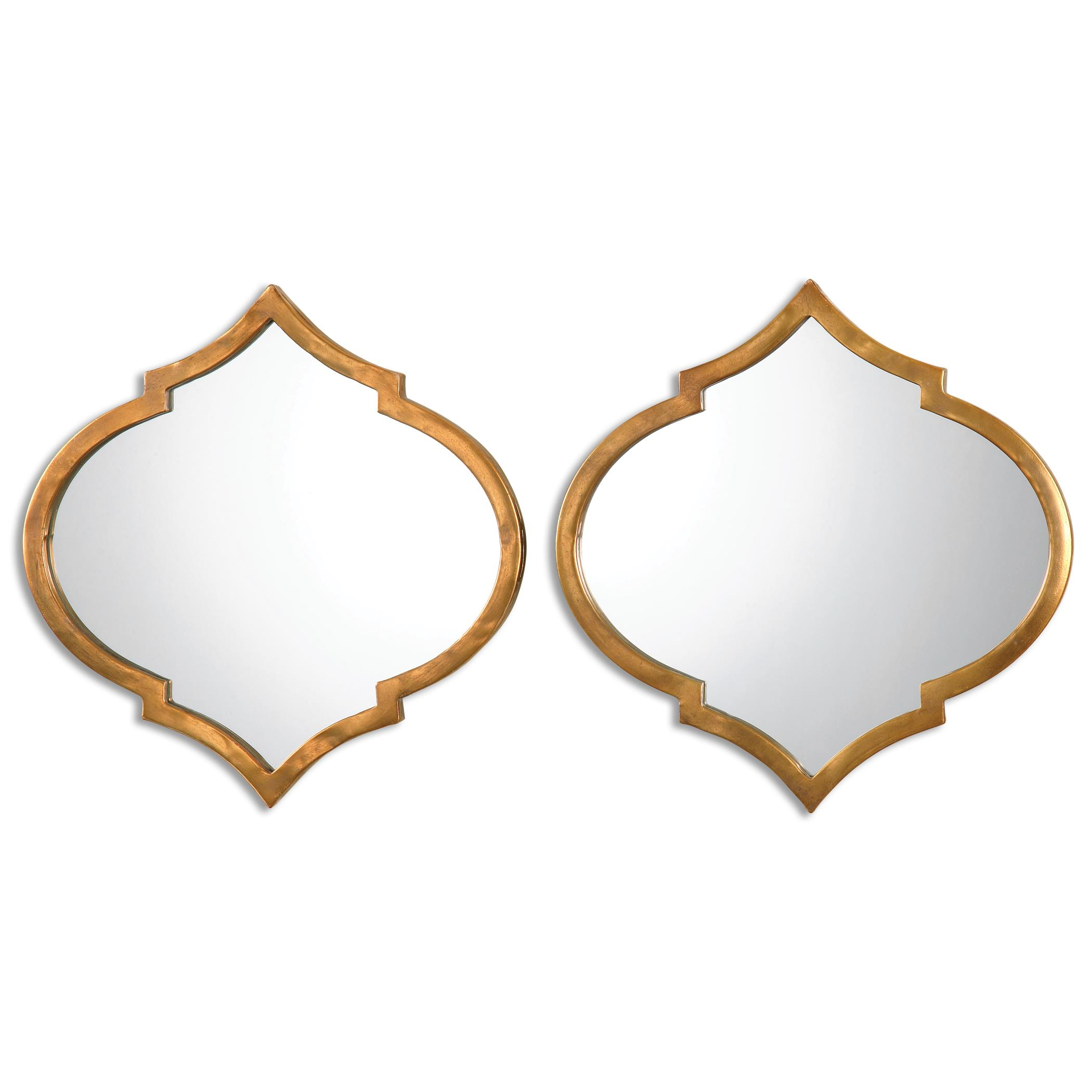 Uttermost Mirrors Jebel Antique Gold Mirrors, S/2 - Item Number: 12909