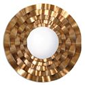 Uttermost Mirrors Follonica Antiqued Gold Round Mirror - Item Number: 12915