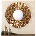 Uttermost Mirrors Follonica Antiqued Gold Round Mirror