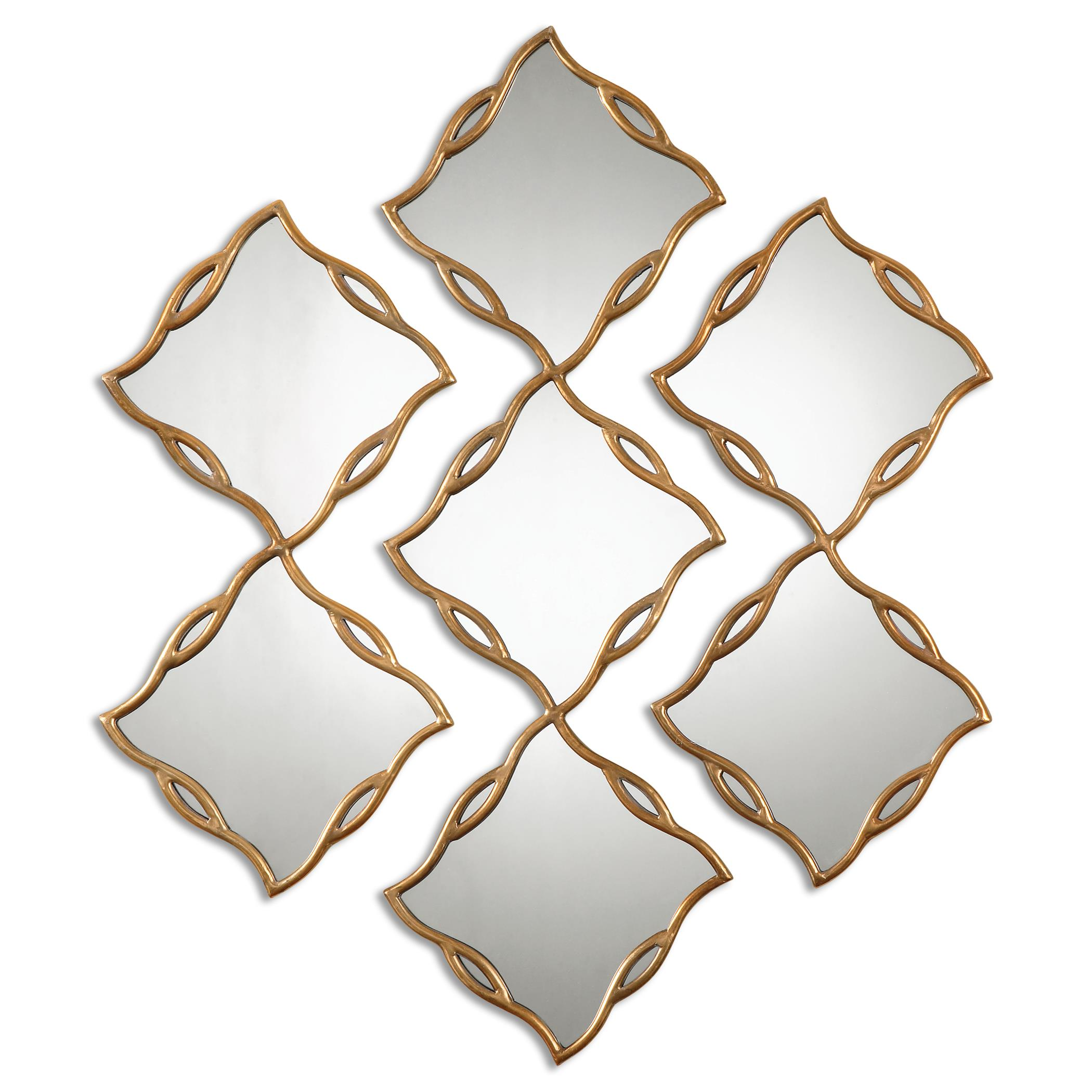 Uttermost Mirrors Terlizzi Gold Mirrors, S/3 - Item Number: 12918