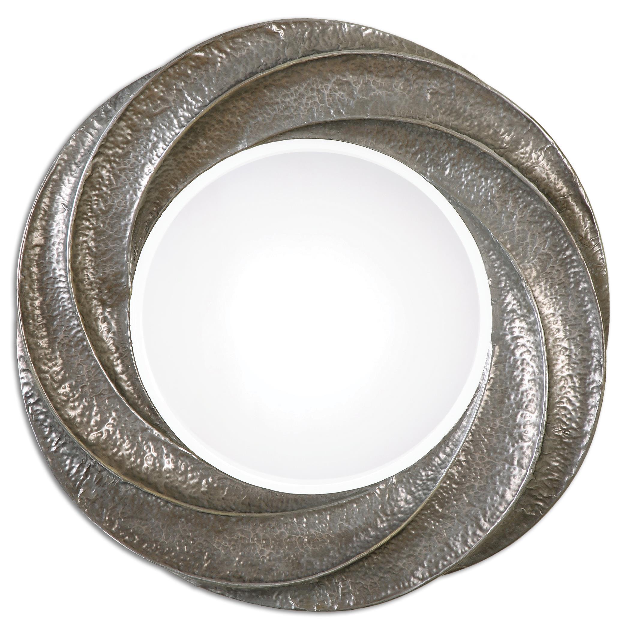 Uttermost Mirrors Spiraali Round Silver Wall Mirror - Item Number: 12922