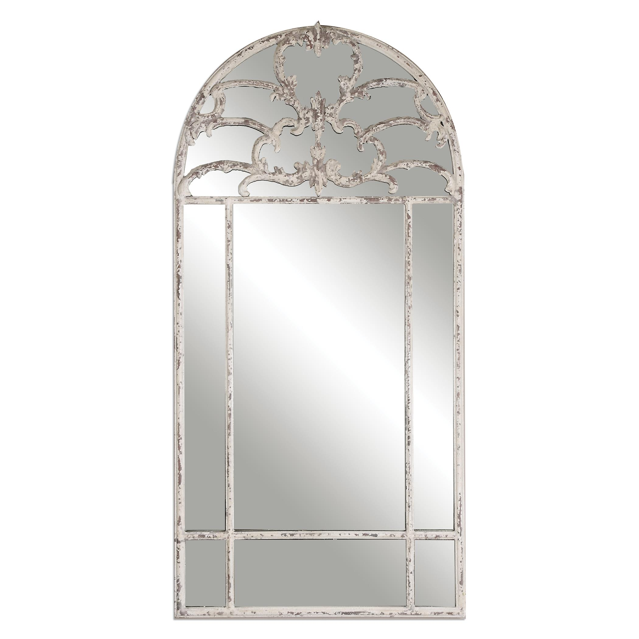 Uttermost Mirrors Gavarresa Arched Metal Mirror - Item Number: 12927