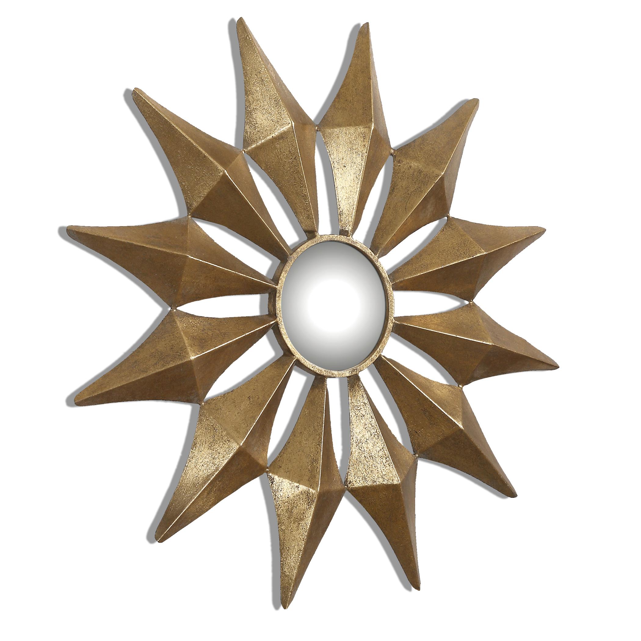 Uttermost Mirrors Navia Gold Starburst Mirror - Item Number: 12932