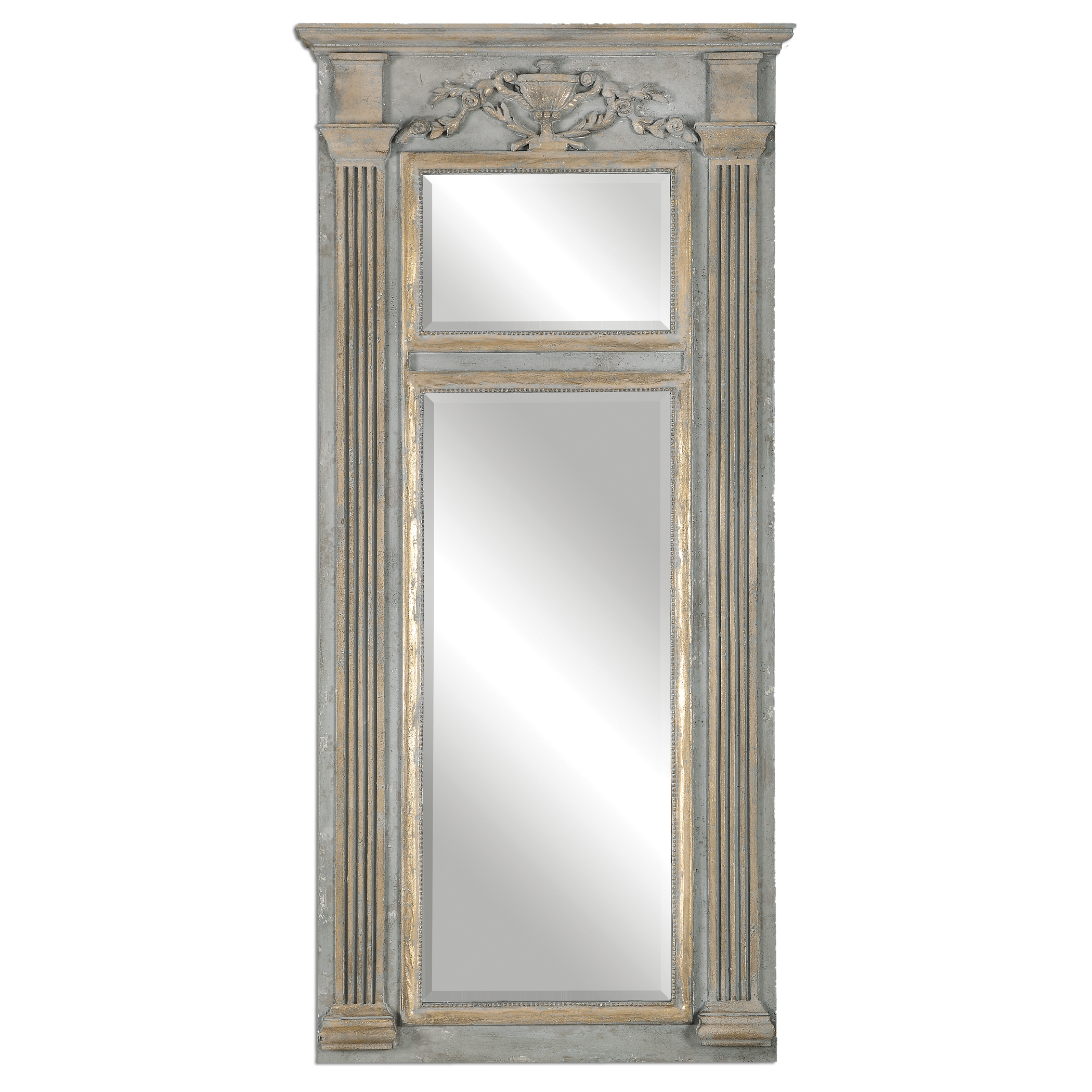 Uttermost Mirrors Sella Stately Weathered Gray Mirror - Item Number: 12933