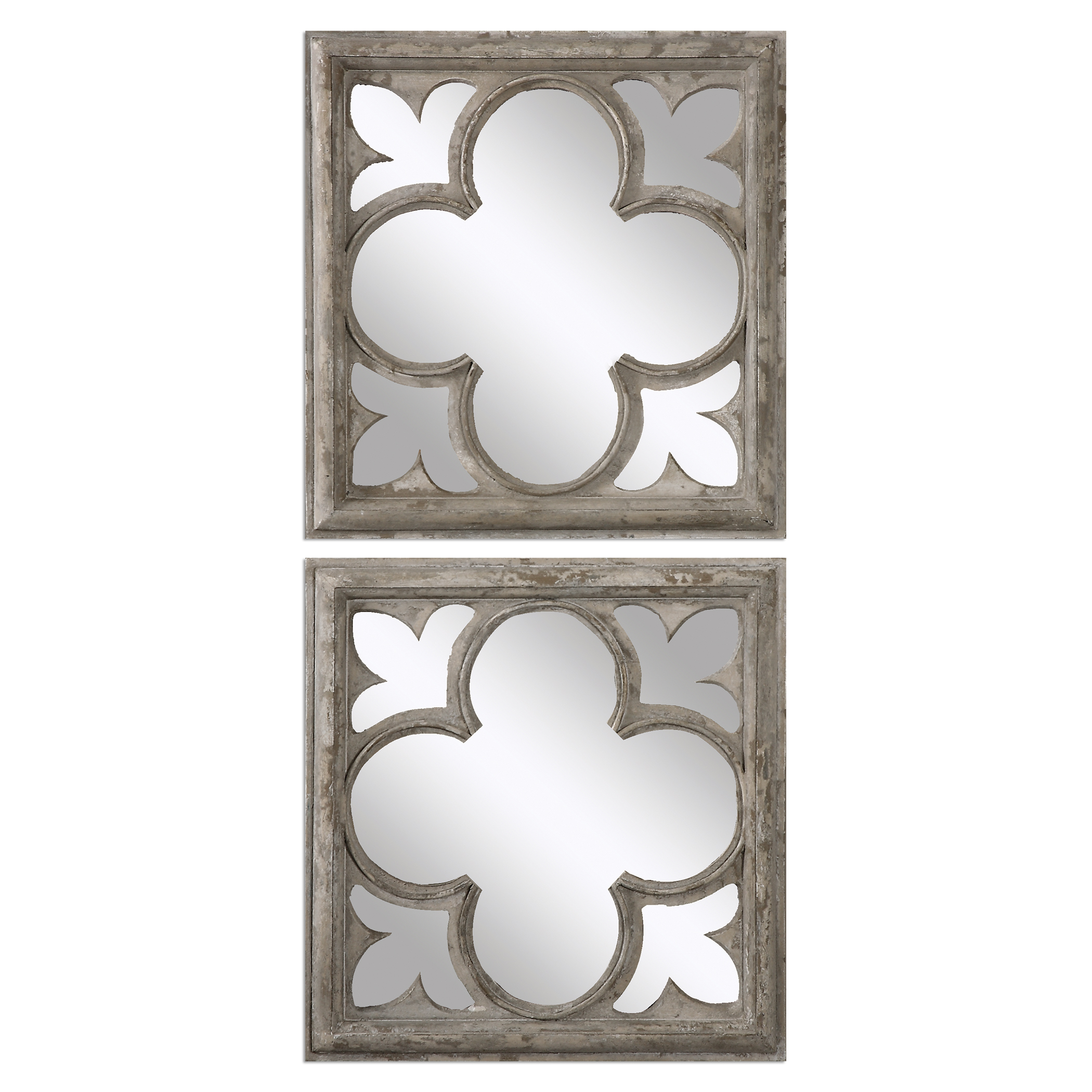 Uttermost Mirrors Vellauni Quatrefoil Mirrors S/2 - Item Number: 12935