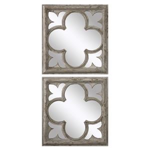 Vellauni Quatrefoil Mirrors S/2