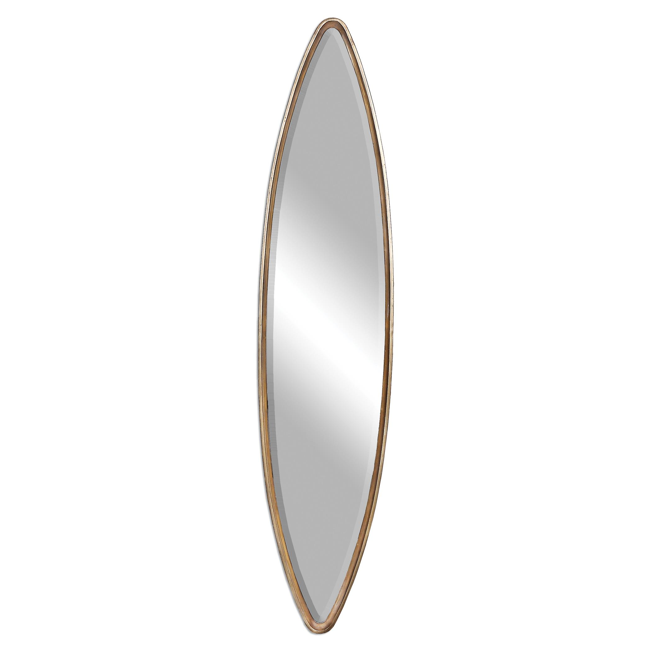 Uttermost Mirrors Belsito Oxidized Gold Oval Mirror - Item Number: 12938