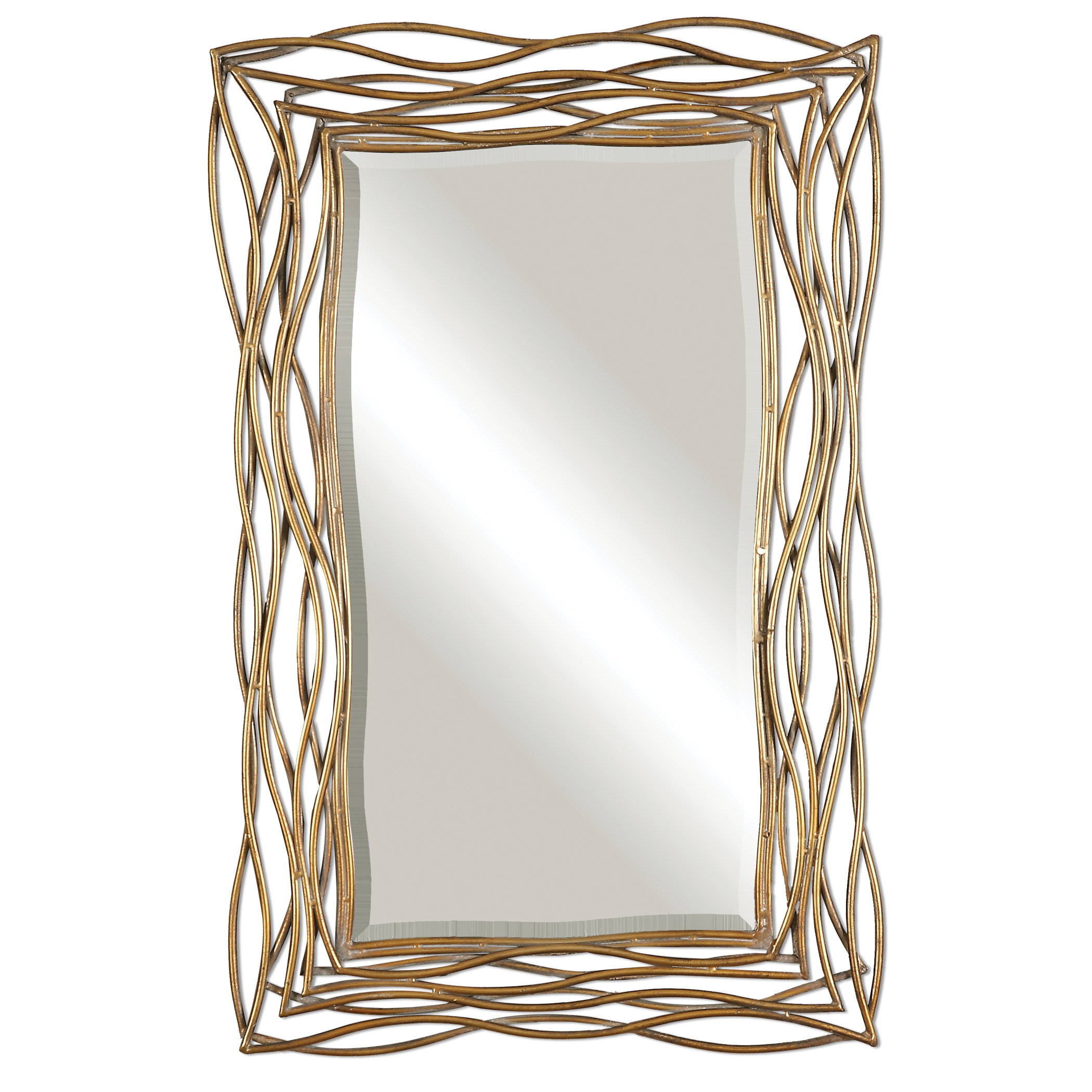 Uttermost Mirrors Tordera Oxidized Gold Mirror - Item Number: 12940