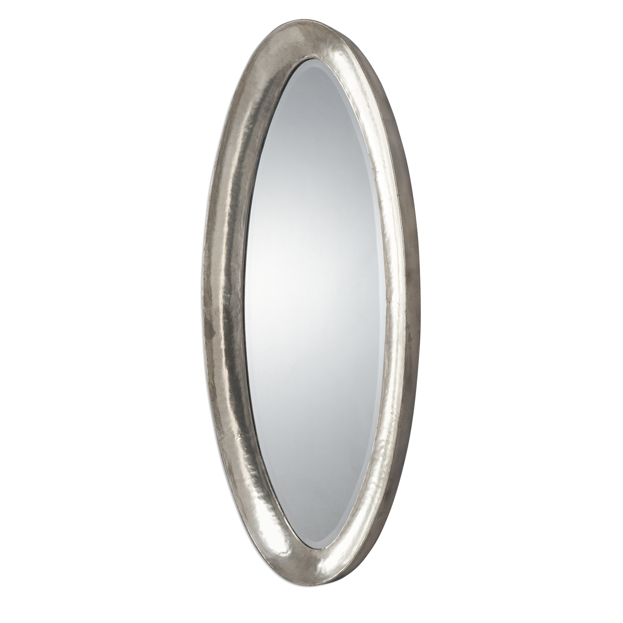 Uttermost Mirrors Copparo Silver Oval Mirror - Item Number: 12941