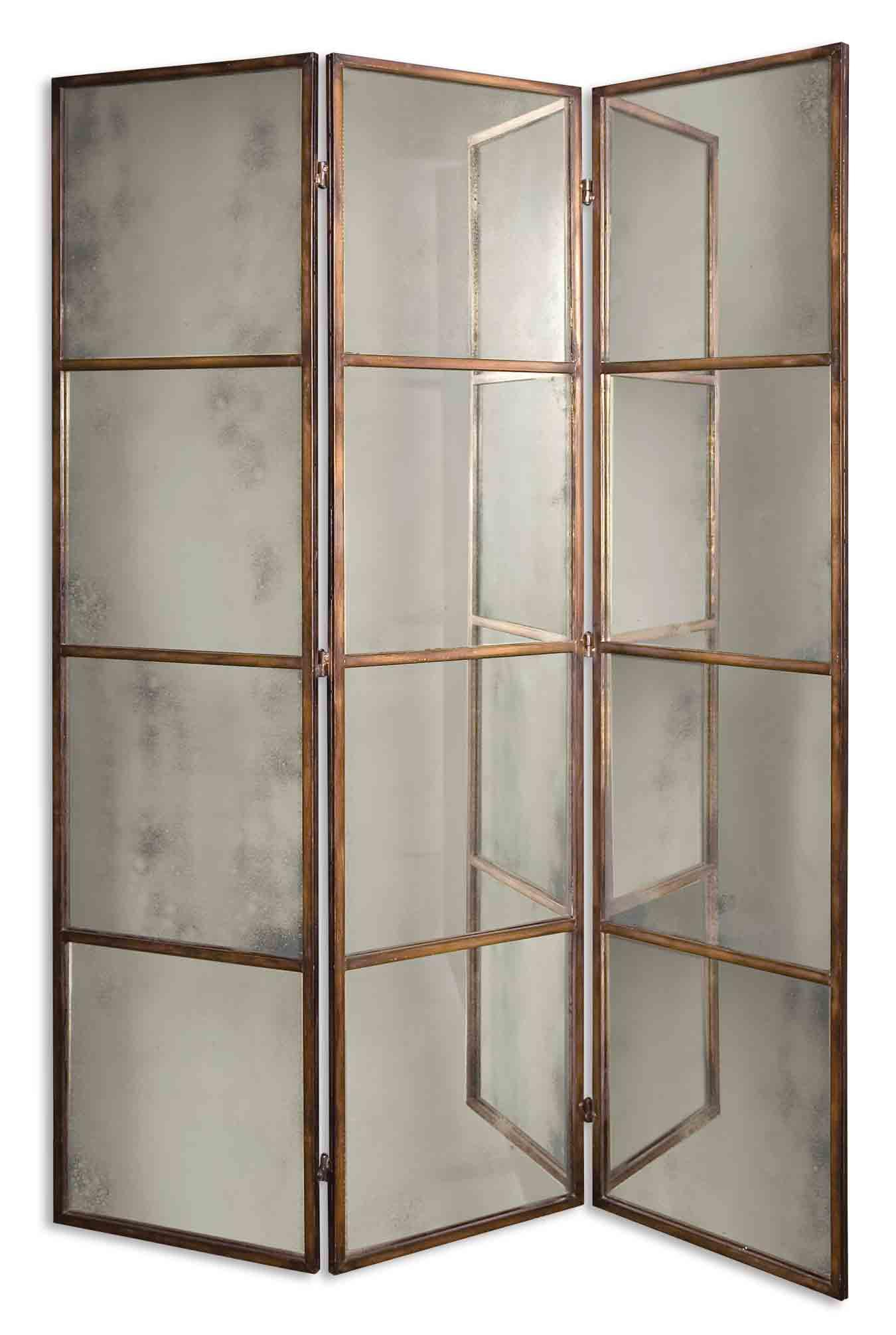 Uttermost Mirrors Avidan 3 Panel Screen - Item Number: 13364 P
