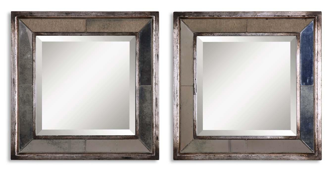 Uttermost Mirrors Davion Squares Set of 2 - Item Number: 13555 B