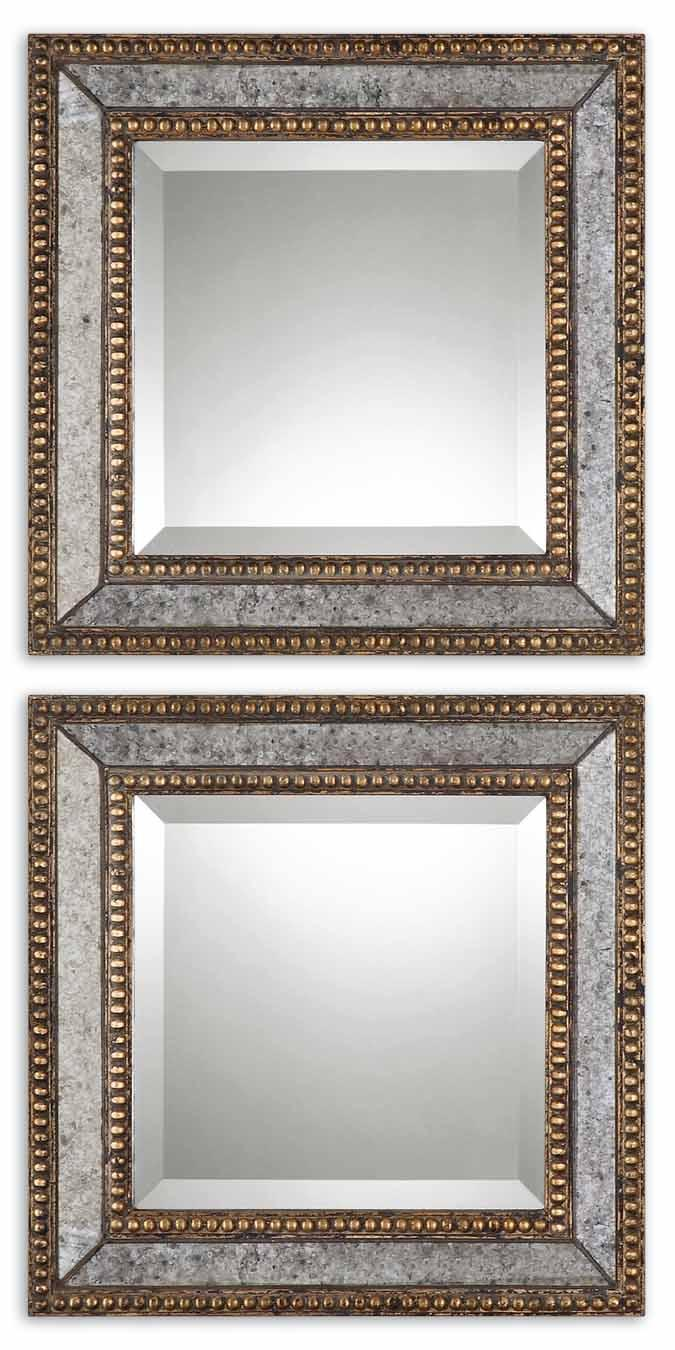 Uttermost Mirrors Norlina Squares Set of 2 - Item Number: 13790