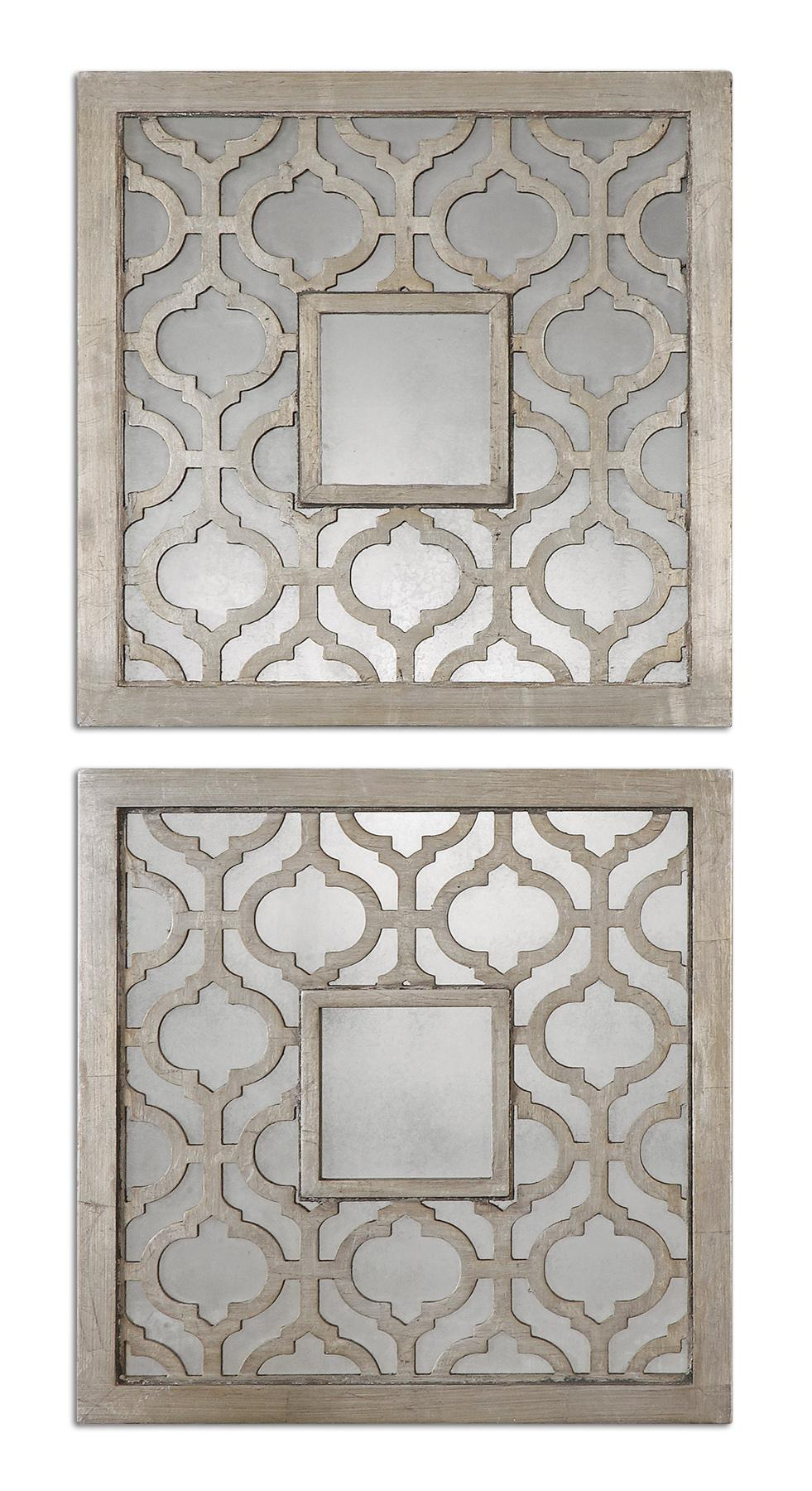 Uttermost Mirrors Sorbolo Squares Set of 2 - Item Number: 13808