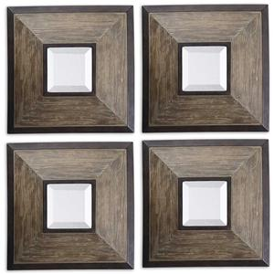 Uttermost Mirrors Fendrel Squares Set of 4