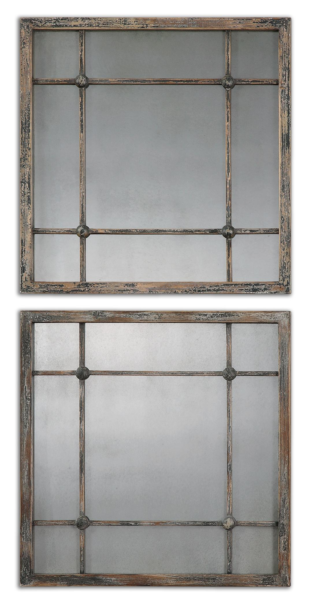 Uttermost Mirrors Saragano Square Mirrors Set of 2 - Item Number: 13845