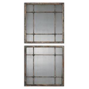 Uttermost Mirrors Saragano Square Mirrors Set of 2