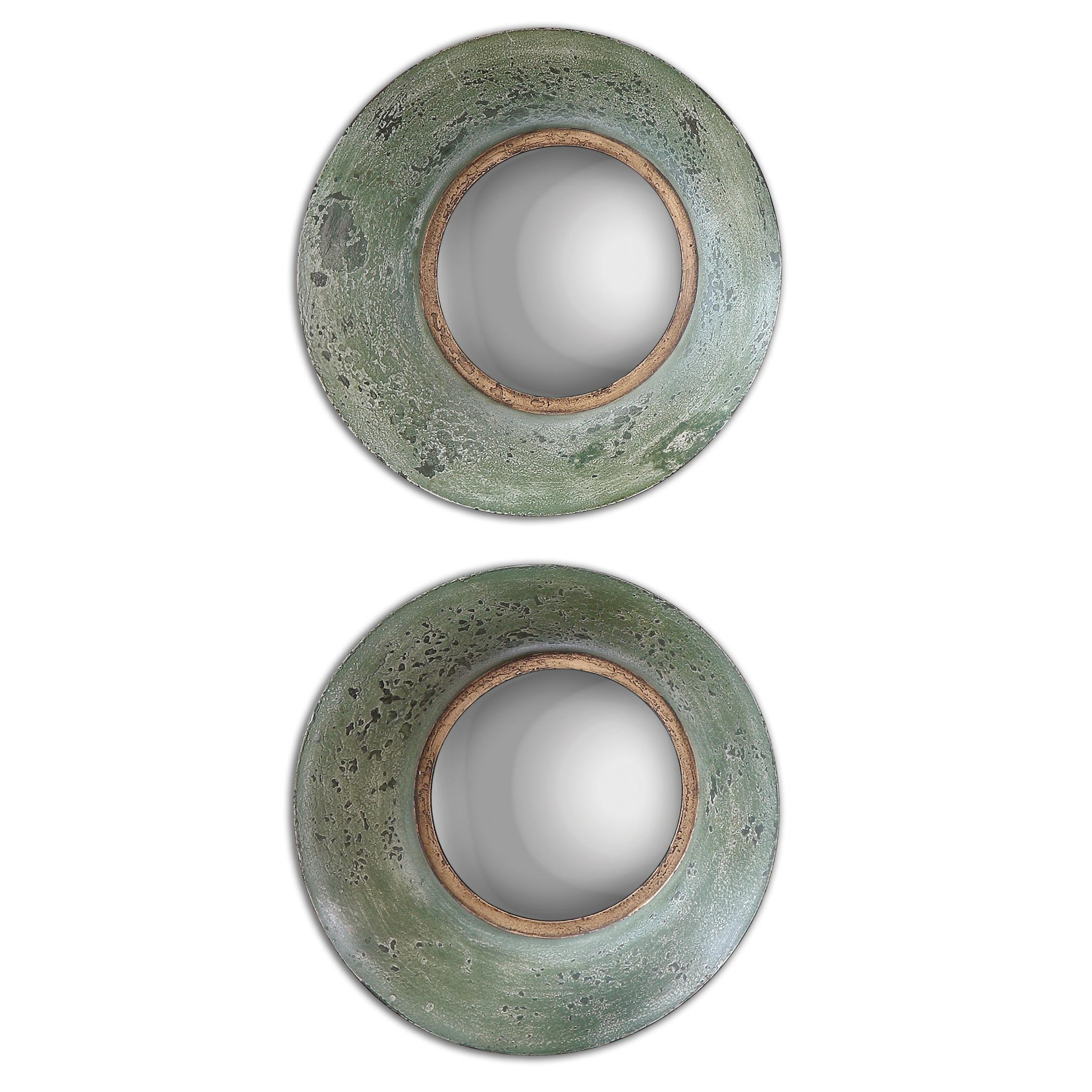 Uttermost Mirrors Forbell Aged Round Mirrors Set of 2 - Item Number: 13860
