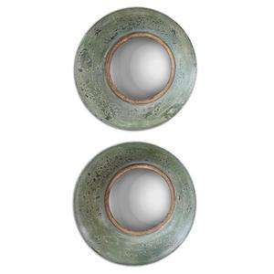 Uttermost Mirrors Forbell Aged Round Mirrors Set of 2