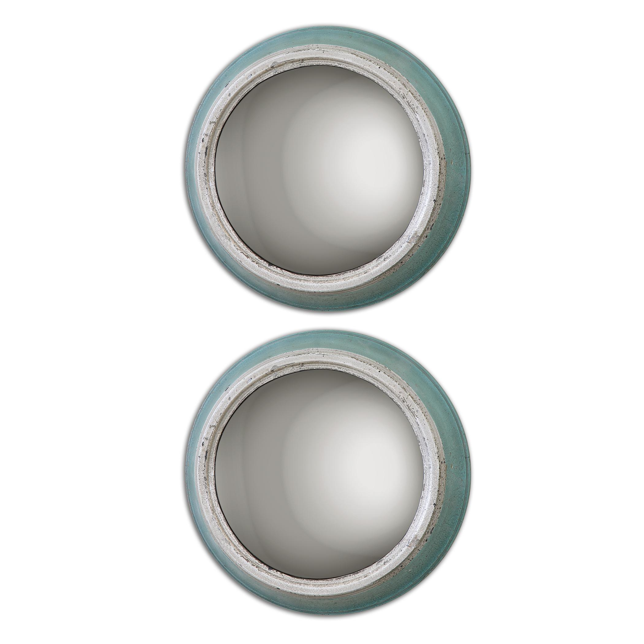 Uttermost Mirrors Fanchon Round Mirrors Set of 2 - Item Number: 13866