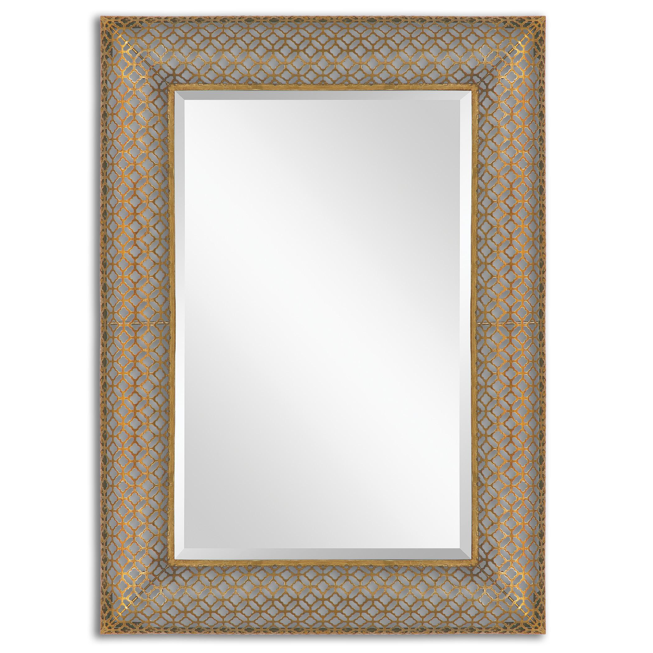 Uttermost Mirrors Ariston Stamped Metal Mirror - Item Number: 13871