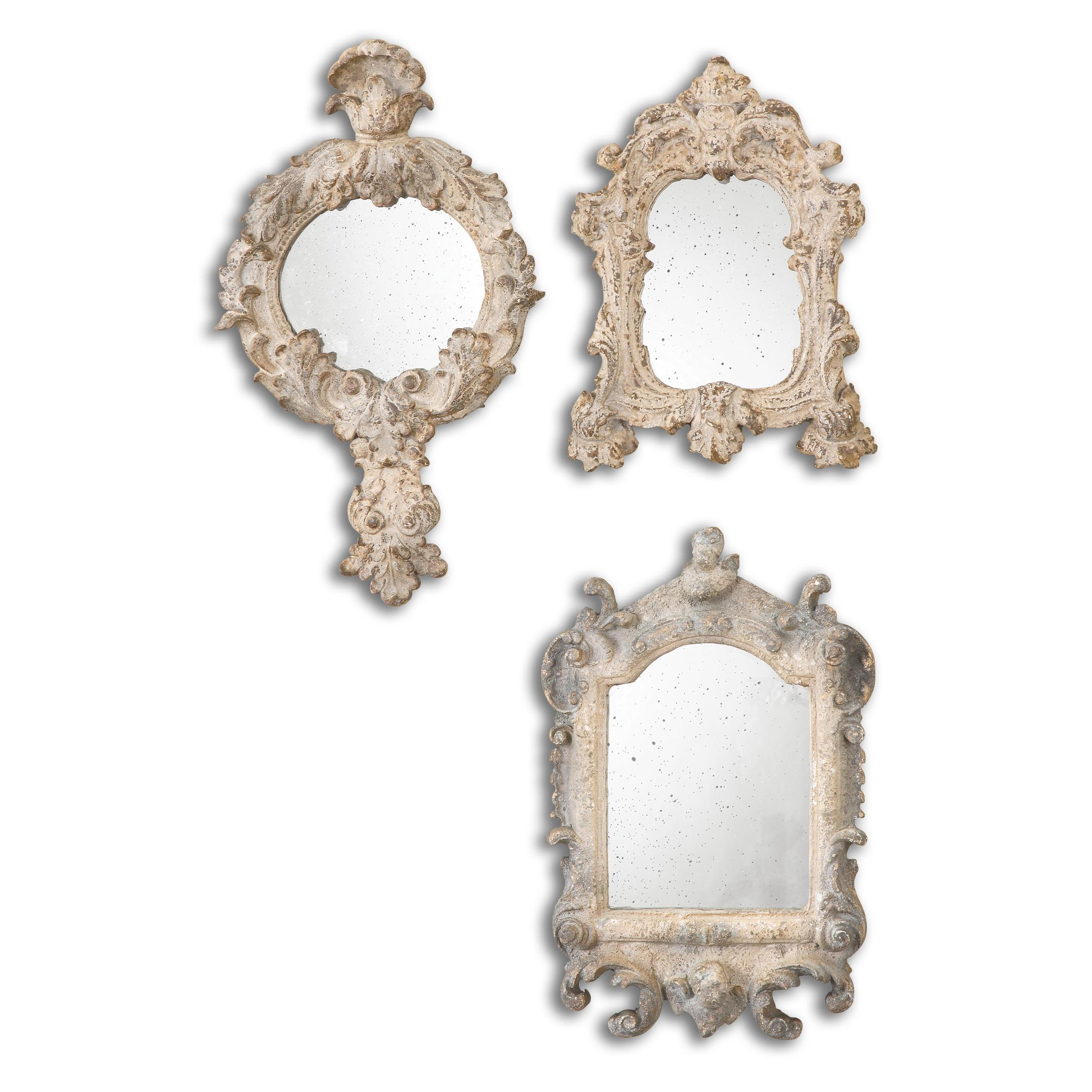 Uttermost Mirrors Rustic Artifacts Reflection Mirrors Set of 3 - Item Number: 13882