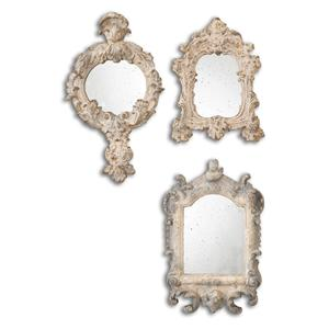 Uttermost Mirrors Rustic Artifacts Reflection Mirrors Set of 3