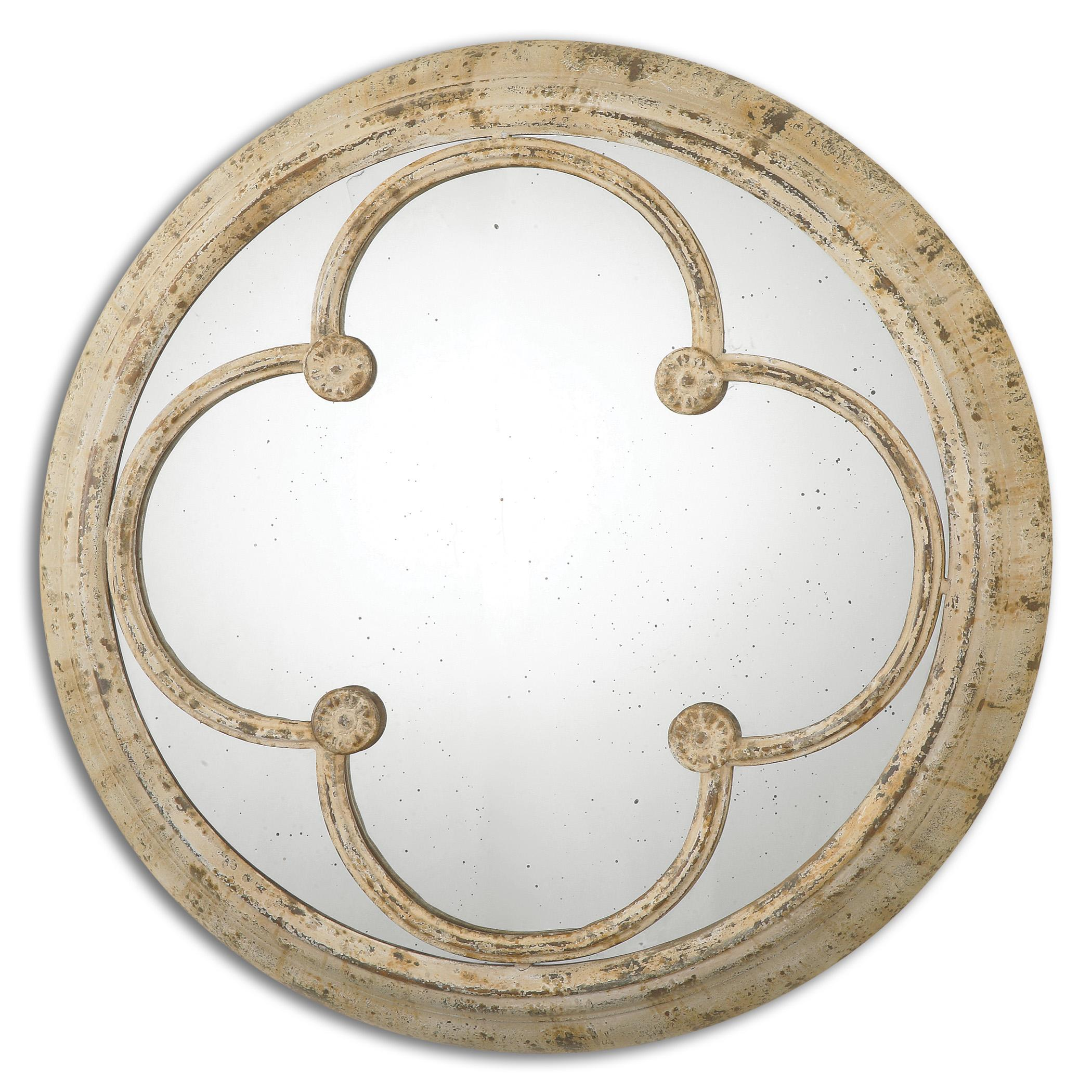 Uttermost Mirrors Livianus Round Metal Mirror - Item Number: 13884
