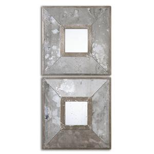 Uttermost Mirrors Gisila Squares Antiqued Mirrors Set of 2