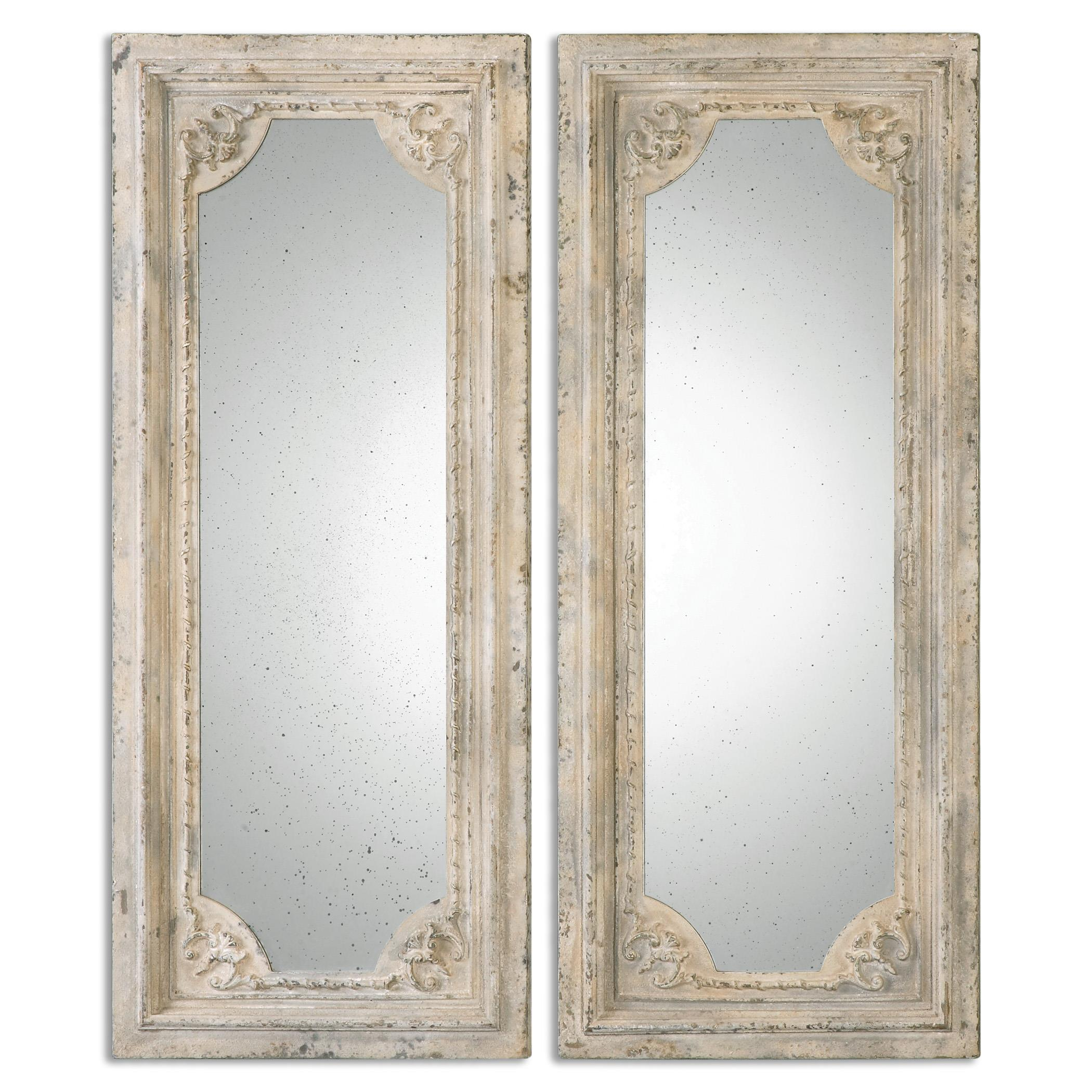Uttermost Mirrors Rapallo Aged Ivory Mirrors, S/2 - Item Number: 13889
