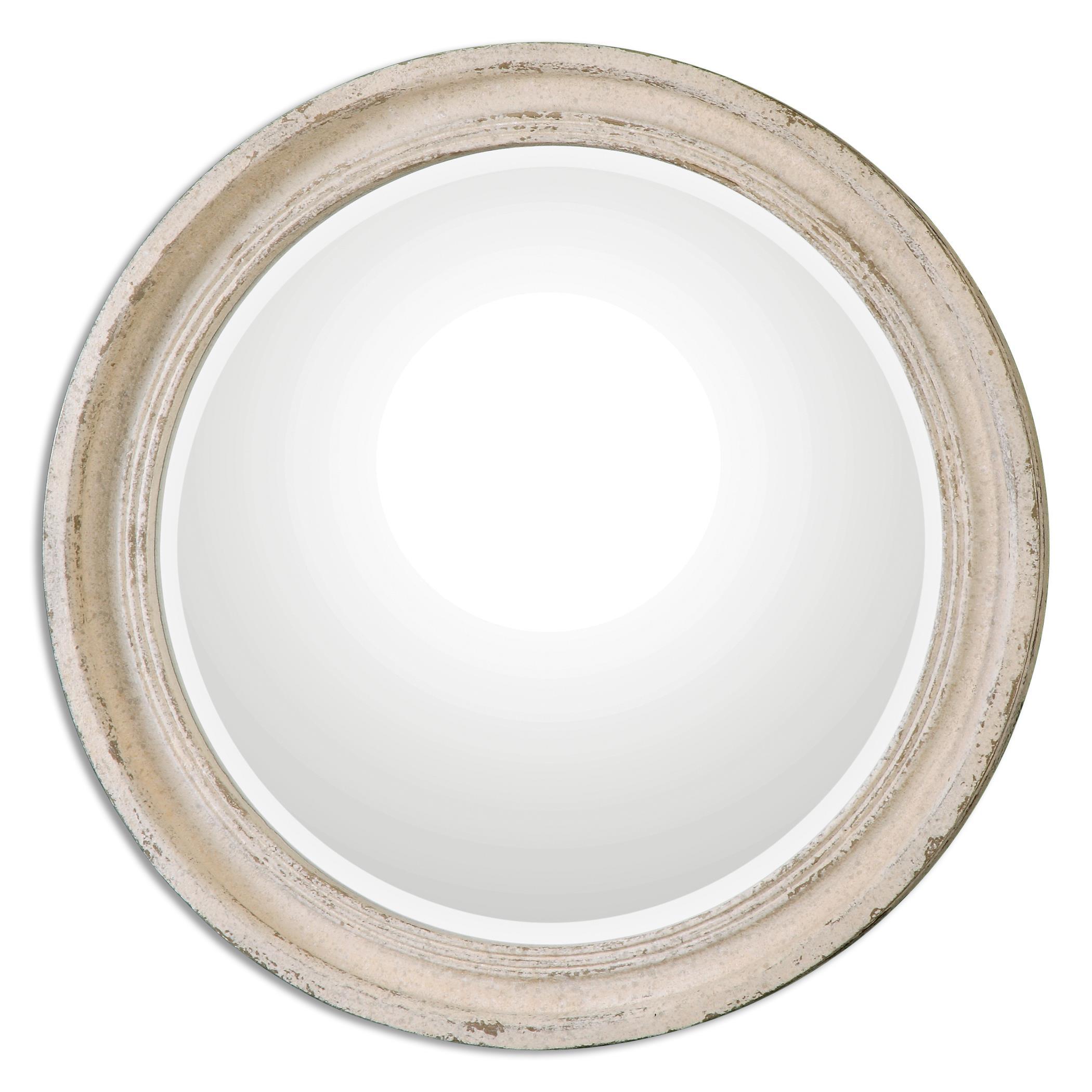 Uttermost Mirrors Busalla Ivory Round Mirror - Item Number: 13904