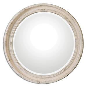 Busalla Ivory Round Mirror
