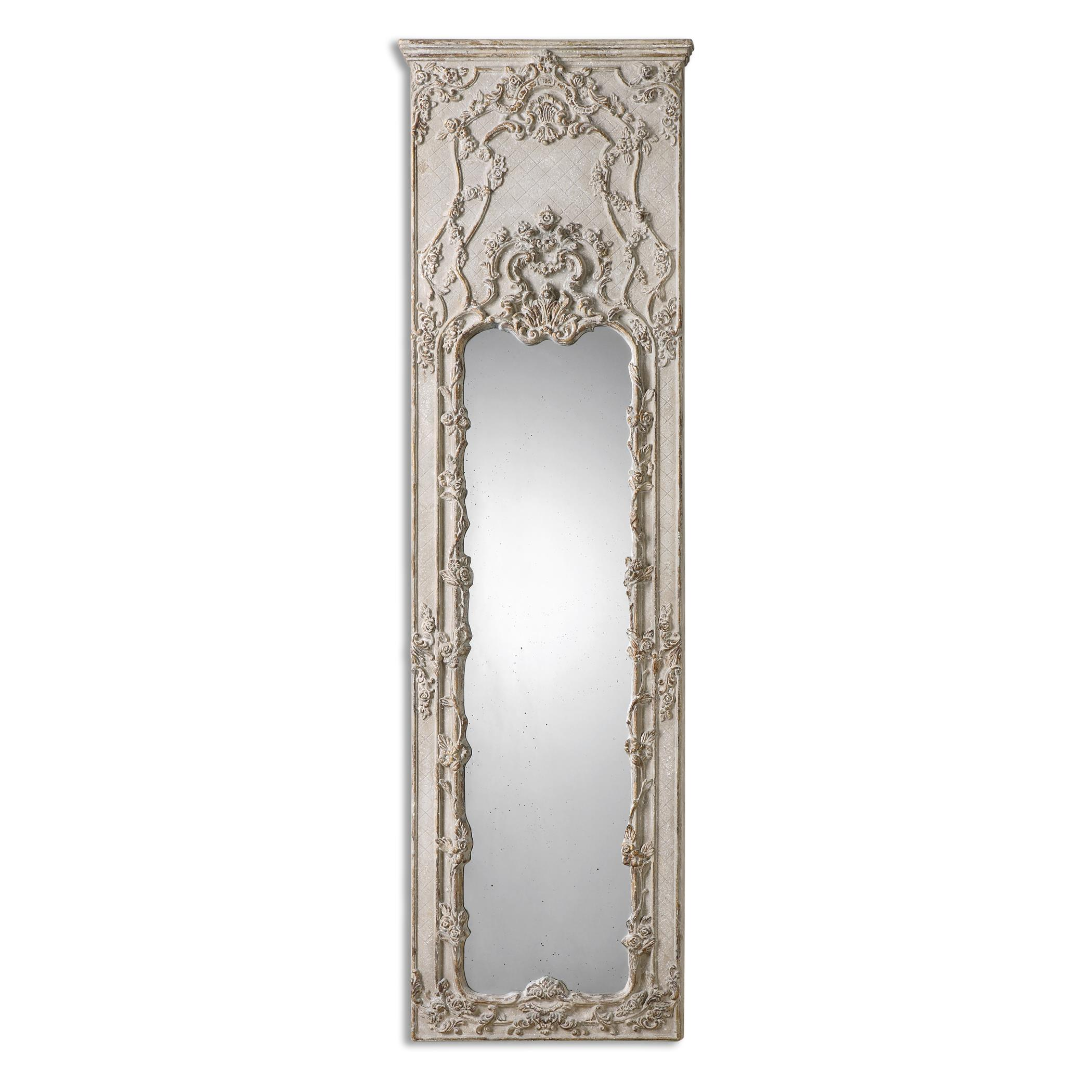 Uttermost Mirrors Castellana Gray-Ivory Leaner Mirror - Item Number: 13914