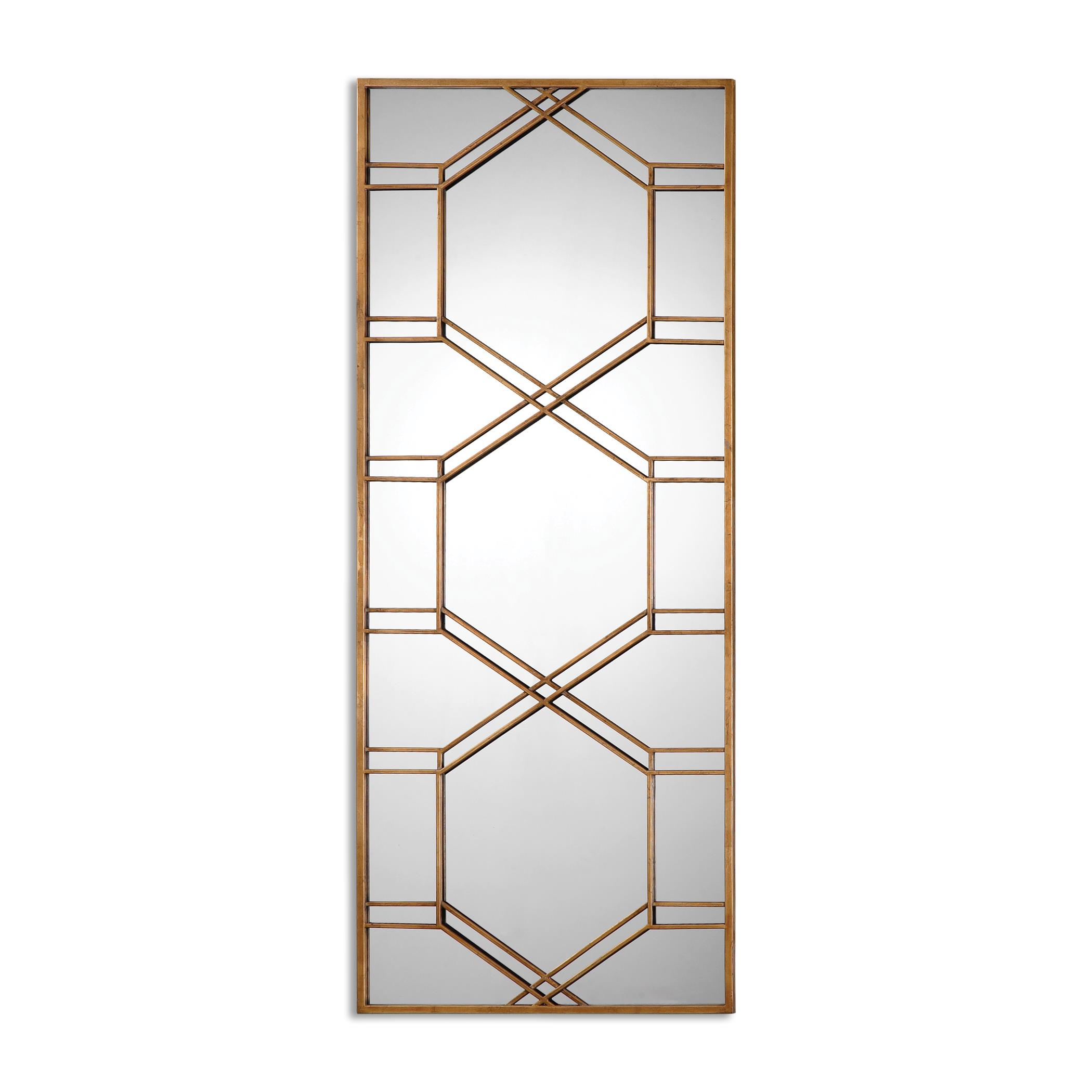 Uttermost Mirrors Kennis Gold Leaf Leaner Mirror - Item Number: 13922