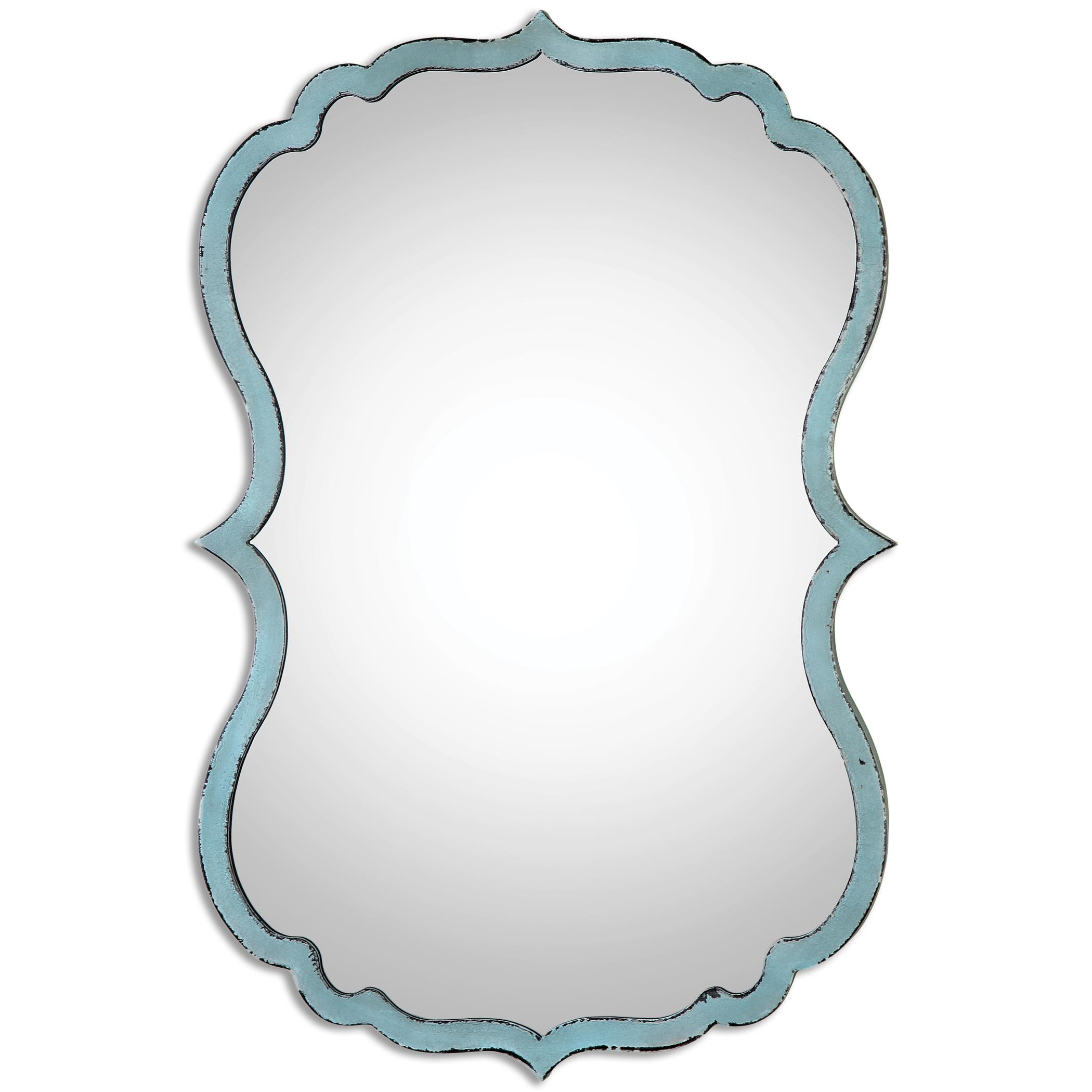 Uttermost Mirrors Nicola Light Blue Mirror - Item Number: 13925