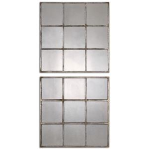 Uttermost Mirrors Derowen Squares Antique Mirrors S/2