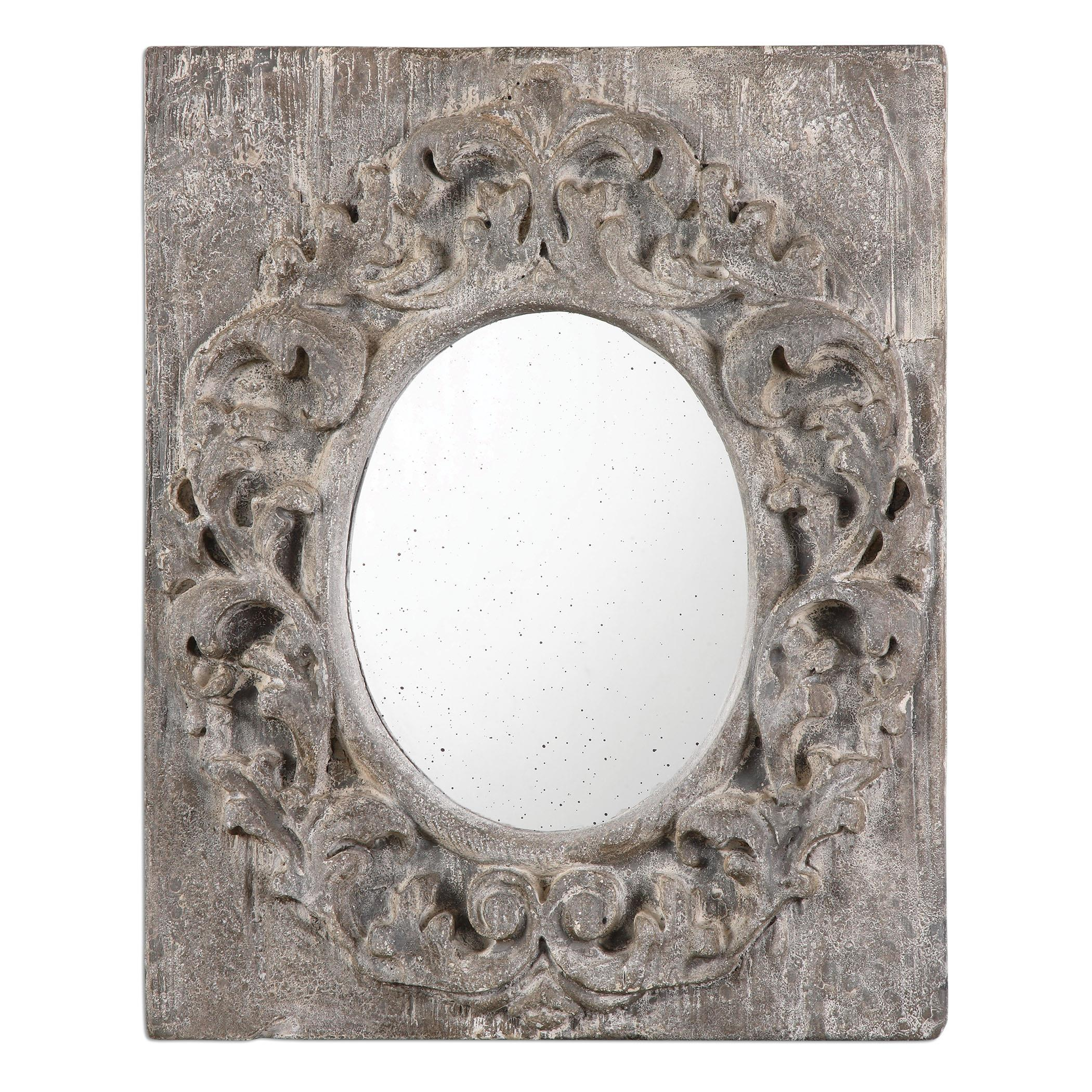 Uttermost Mirrors Valmorea Aged Gray Mirror - Item Number: 13987