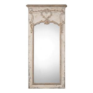Carlazzo Antiqued White Mirror