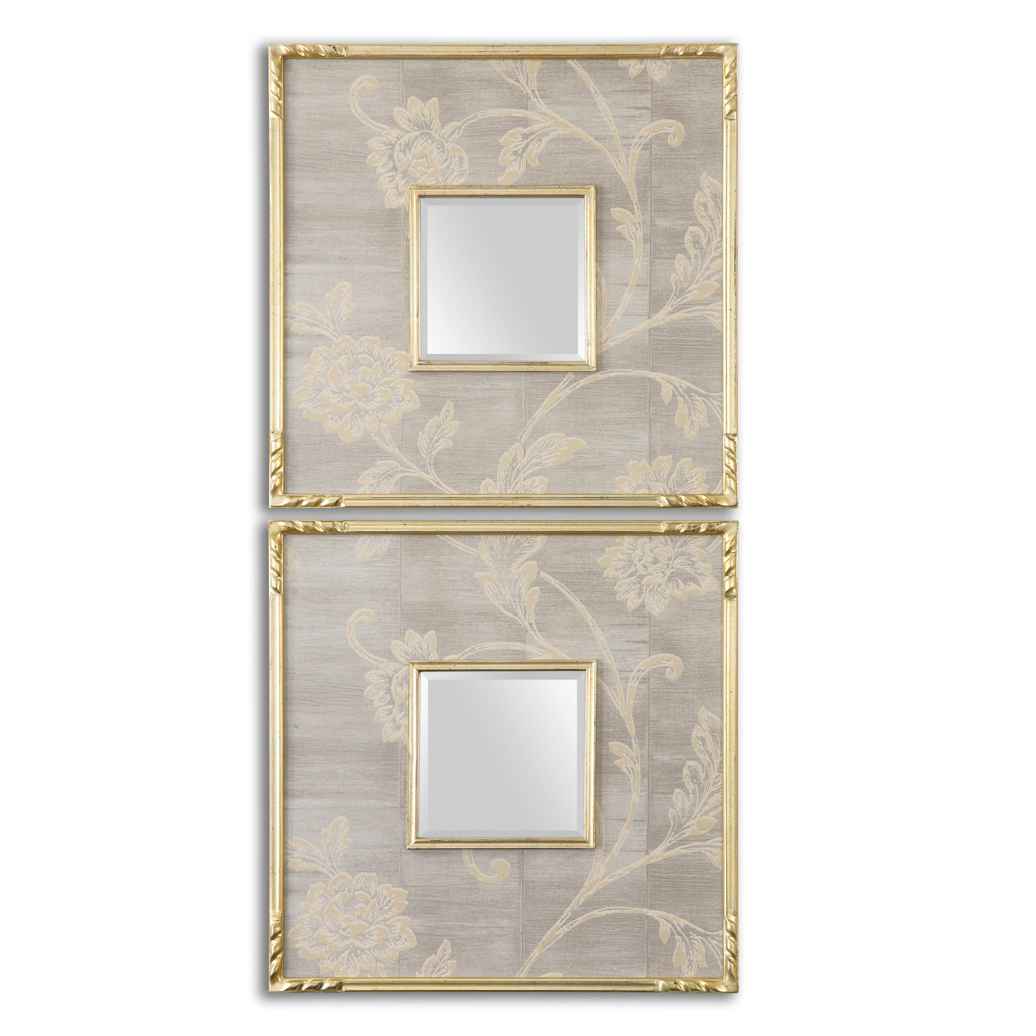Uttermost Mirrors Evelyn Square Mirrors, Set of 2 - Item Number: 14493
