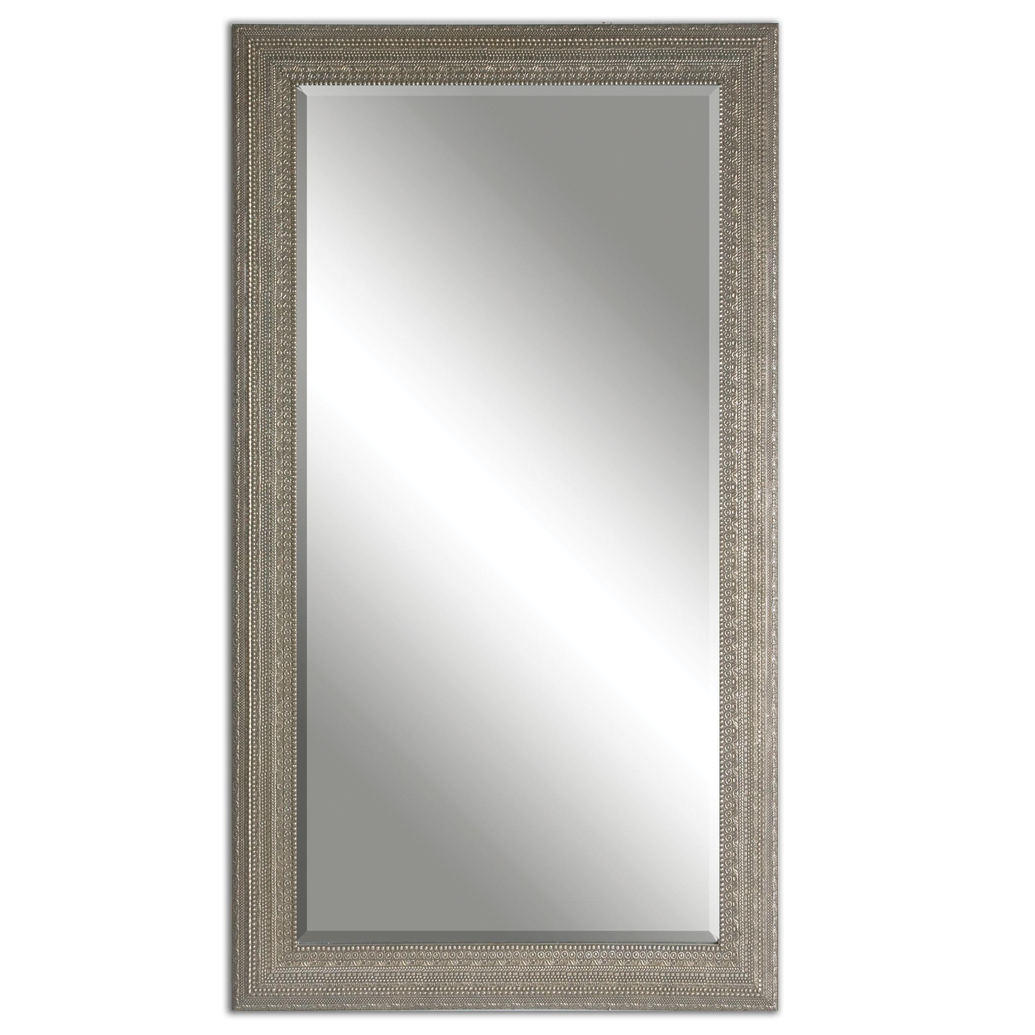 Uttermost Mirrors Malika Antique Silver Mirror - Item Number: 14603