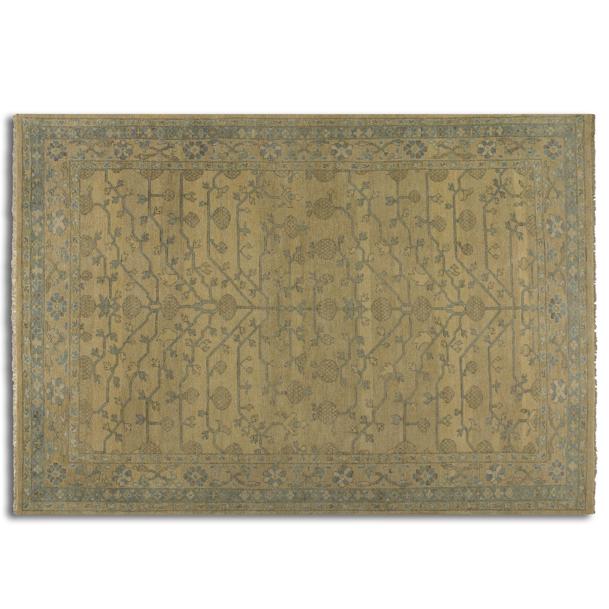 Uttermost Rugs Bankura 6 X 9 Rug - Pale Gold - Item Number: 70018-6