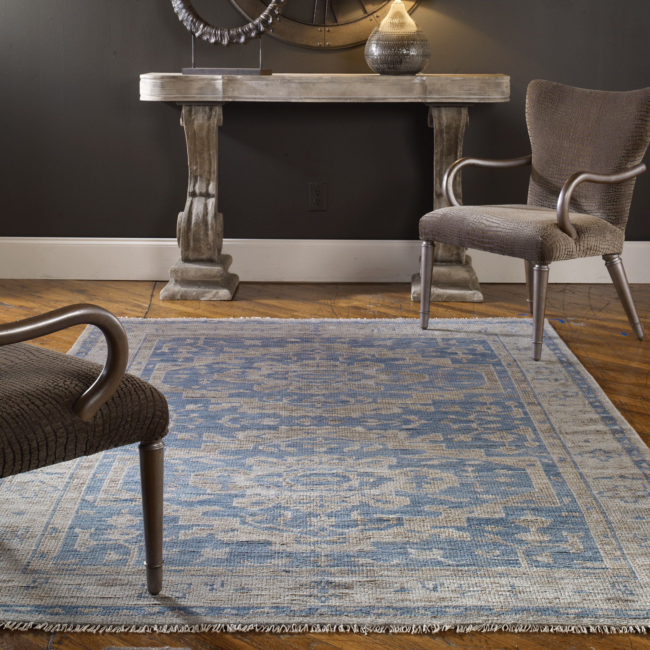 Uttermost Rugs Adana 6 X 9 Rug - Blue - Item Number: 70024-6
