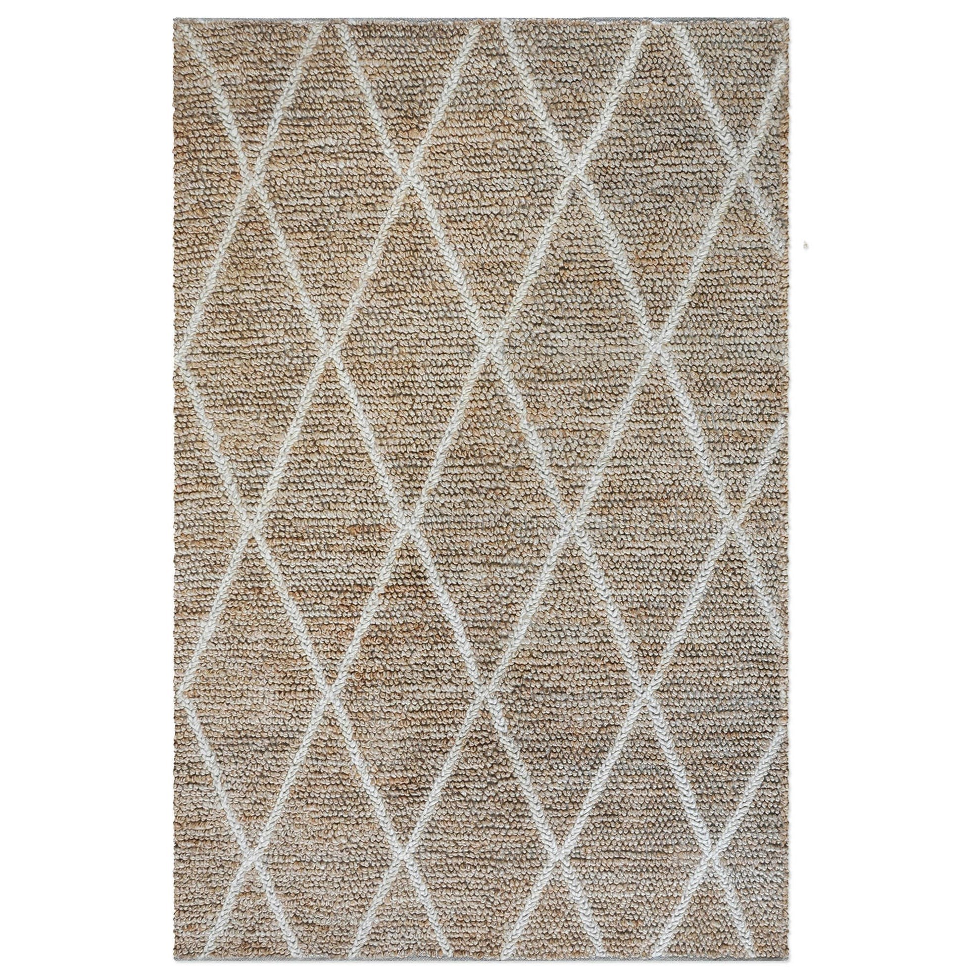 Rugs Larson Ivory 5 x 8 Rug by Uttermost at Adcock Furniture
