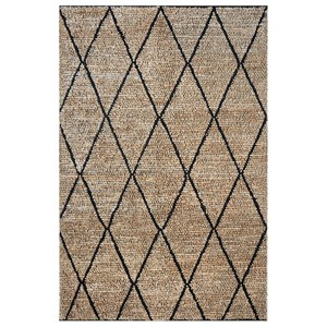 Uttermost Rugs Larson Charcoal 5 x 8 Rug