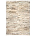 Uttermost Rugs Riviera Ivory Brown 8 x 10 Rug - Item Number: 71107-8