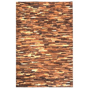 Uttermost Rugs Tiago Medium Brown 5 x 8 Rug